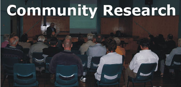 Community Consultation & Research Gathering